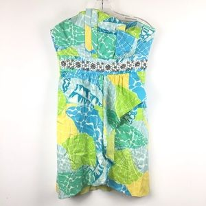 LILLY PULITZER Multicolored Print Dress Size 8